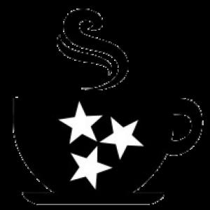 petes coffee shop logo coffee cup